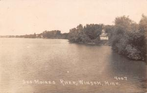 Windom Minnesota~Houses~Barns on Des Moines River Shoreline~c1920s RPPC