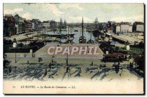 Old Postcard Le Havre Commerce Basin