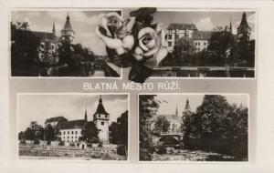 RP: BLATNA, Czech Republic , 1920-40s; 4-views, Mesto Ruzi