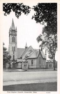 A28/ Ohio Postcard Granville First Baptist Church Licking County