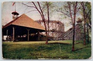 Rock Island IL~Black Hawk Watch Tower Amusement Park~Figure 8 Roller Coaster~'09
