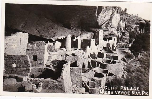 Colorado Cliff Palace Mesa Verde National Park Real Photo