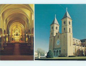 Unused Pre-1980 CHURCH SCENE Vitoria Kansas KS hs6543