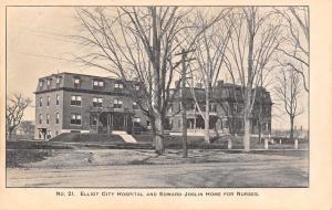Keene New Hampshire~Elliot City Hospital~Edward Joslin Home for Nurses~1905 PC