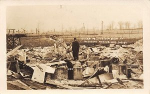 LP83  Pleasant Prairie Wisconsin Postcard RP  Powder Explosion Damage Afterwards
