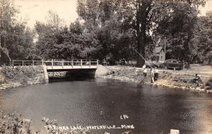 Waterville MN Men Fishing Tetonka Lake Catch 3  Lunkers~Have Fish Fry RPPC 1949