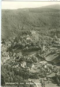 Germany, Schwarzburg Thur, Blick vom Trippstein, unused real photo Postcard