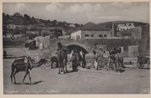 Nazareth The Virgins Fountain Real Photo Postcard