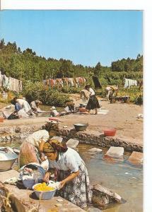 Postal 032313 : Nazare - Portugal. Women washing of Nazare