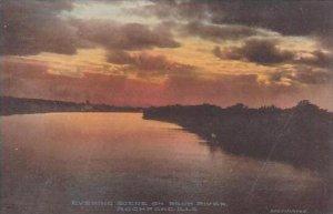 Illinois Rockford Evening Scene On Rock River Albertype