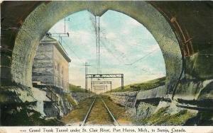 Sarnia Canada~Grand Trunk Tunnel Under St Clair River~Port Huron Michigan~1909