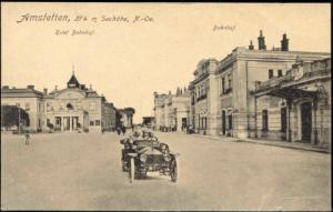 austria, AMSTETTEN, Hotel Bahnhof, Station (1921) Stamp
