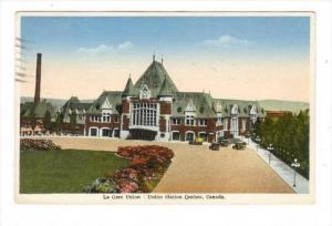 La Gare Union, Union Station, Quebec, Canada, PU-1936