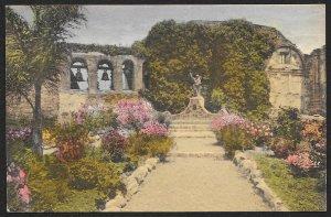 Bells & Front Garden Mission San Juan Capistrano California Unused c1930s
