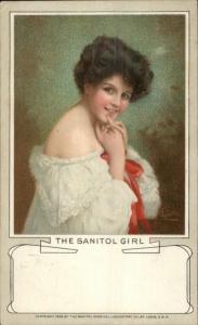Beautiful Woman THE SANITOL GIRL c1905 Postcard