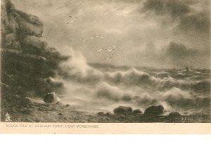 G.E. NEWTON. Rough Sea at Heiham Point Tuck Rough Sea Ser. PC # 111