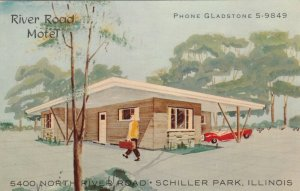 SCHILLER PARK , Illinois, 1950-60s ; River Road Motel