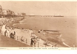 ·The Beach from the Wish Tower. Eastbourne. A Tuck postcard # EB 6
