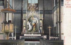 Indre af Kirken i Molde , Norway , 1910