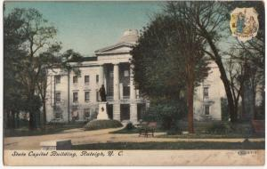 State Capitol Building, Raleigh, NC, early 1900s Postcard