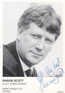 Shaun Scott DI Chris Deakin ITV The Bill Hand Signed Cast Card Photo