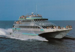 Port Douglas, Australia, 1950-70s ; Quicksilver's Wavepiercers Cruise Boat