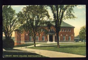 Northampton, Massachusetts/MA/Mass Postcard, Library, Smith College
