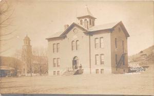 D95/ Brownsville Minnesota Mn Real Photo RPPC Postcard c1910 Public School