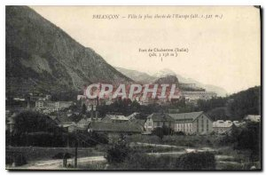 Postcard Old City Briancon the highest in Europe