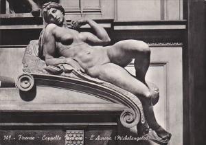 Italy Firenze Cappella Medicee L'Aurora Michelangelo