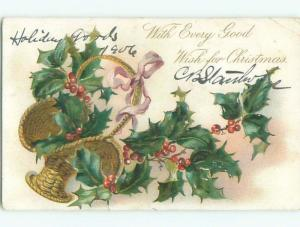 Divided-Back CHRISTMAS SCENE Great Postcard W9450