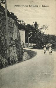 indonesia, SUMATRA ACEH SABANG, Mountain Lake, Oil Tanks (1910s) Postcard