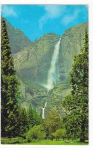 Yosemite Falls Yosemite National Park CA Vintage Waterfall Postcard 1950s
