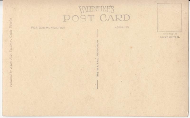 UK, Carlingwark Loch, Castle Douglas, Real Photograph unused Postcard RPPC