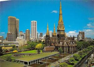 Australia Melbourne Victoria The City Skyline, St Patrick's Catholic Cathedral