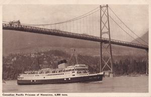 Princess Of Nanaimo Canadian Pacific Line Ship Postcard