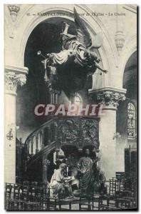 Postcard Old Saint Cloud Interior of the Church The Chair