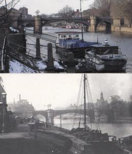 Skeldergate Bridge Boats Barges Winding Mechanism 2x York Large Postcard s