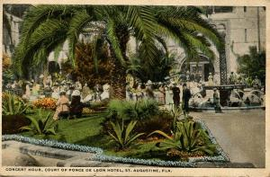 FL - St. Augustine. Courtyard of Ponce de Leon Hotel