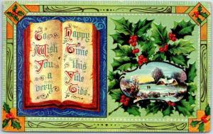 Vintage CHRISTMAS Postcard To Wish You A Very Happy Time This Yuletide 1912