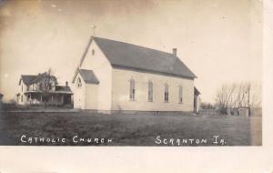 Scranton IA Catholic Church & Home~Had To Tell: Easier Said Than Done RPPC 1907