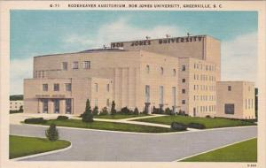 Rodeheaver Auditorium Bob Jones University Greenville South Carolina