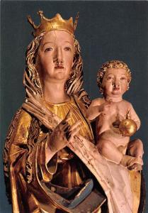 Madonna mit Kind aus der Stephanskirche Obermontani bei Mroter Vinschgau