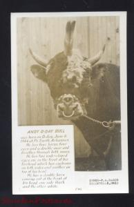 RPPC FREAK BULL BORN FORT SMITH ARKANSAS BROOKVILLE OHIO REAL PHOTO POSTCARD