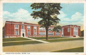 F15/ Selma Alabama Postcard 1945 Junior High School
