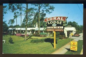Jacksonville, Florida/FL Postcard, Coral Lodge Motel, Courtesy Court, Route 1
