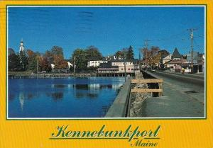 Looking Toward Town Kennebunkport Maine 1980