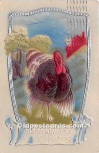 Thanksgiving Greetings 1908 postal marking on front