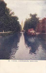 Netherlands Amsterdam Canal Scene