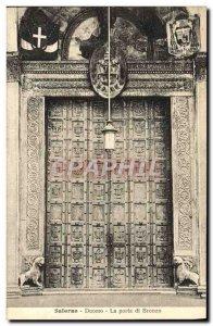 Old Postcard Salerno Duomo La Porta di Bronzo